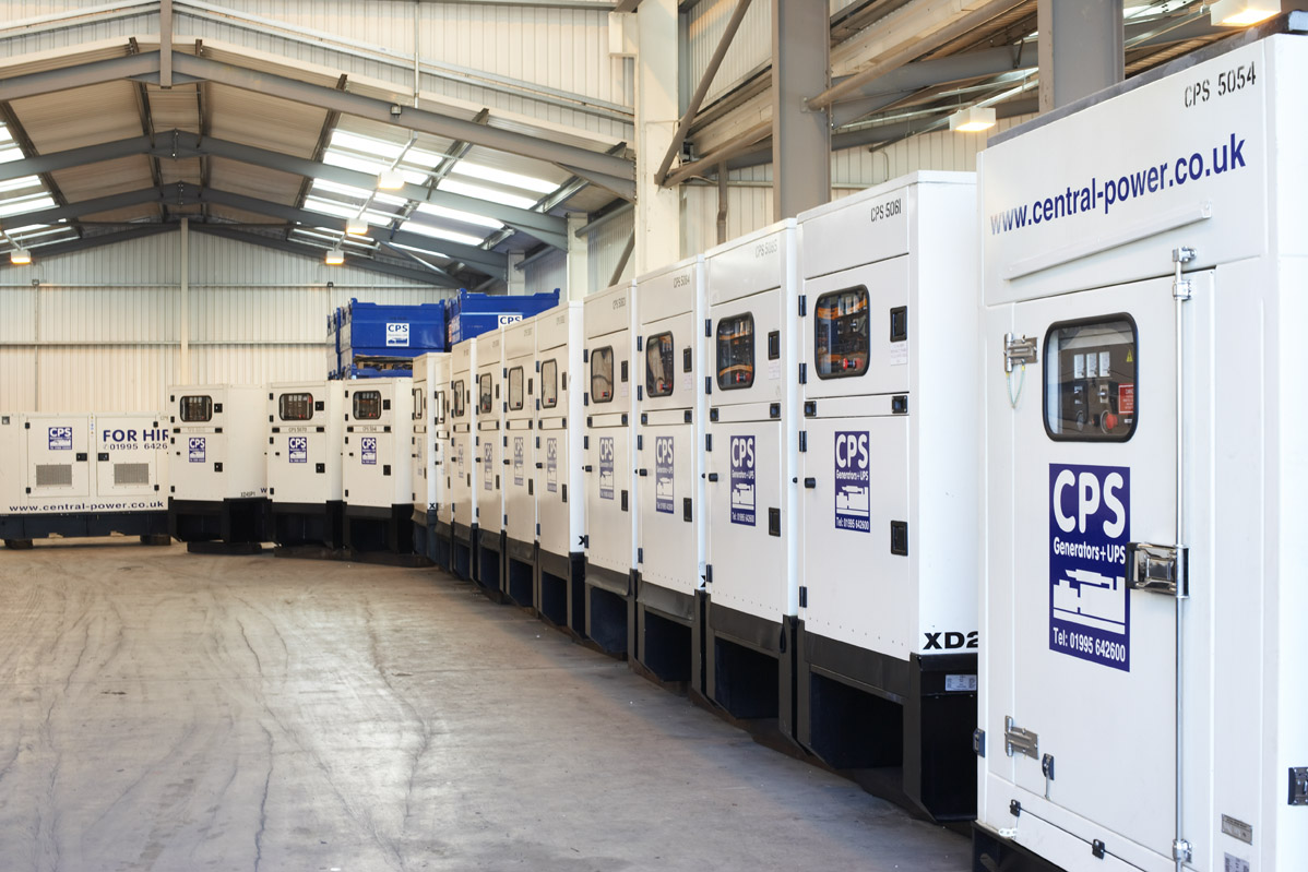 Generators Lined Up