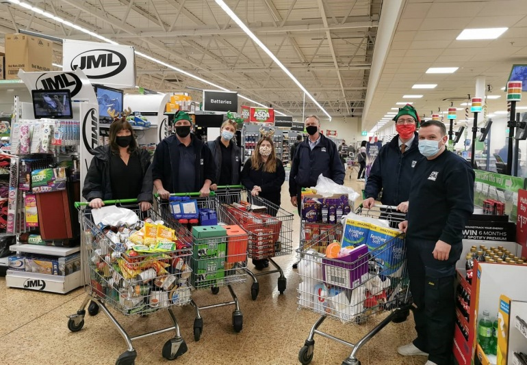 CPS Santa's Go Shopping for Foodbank